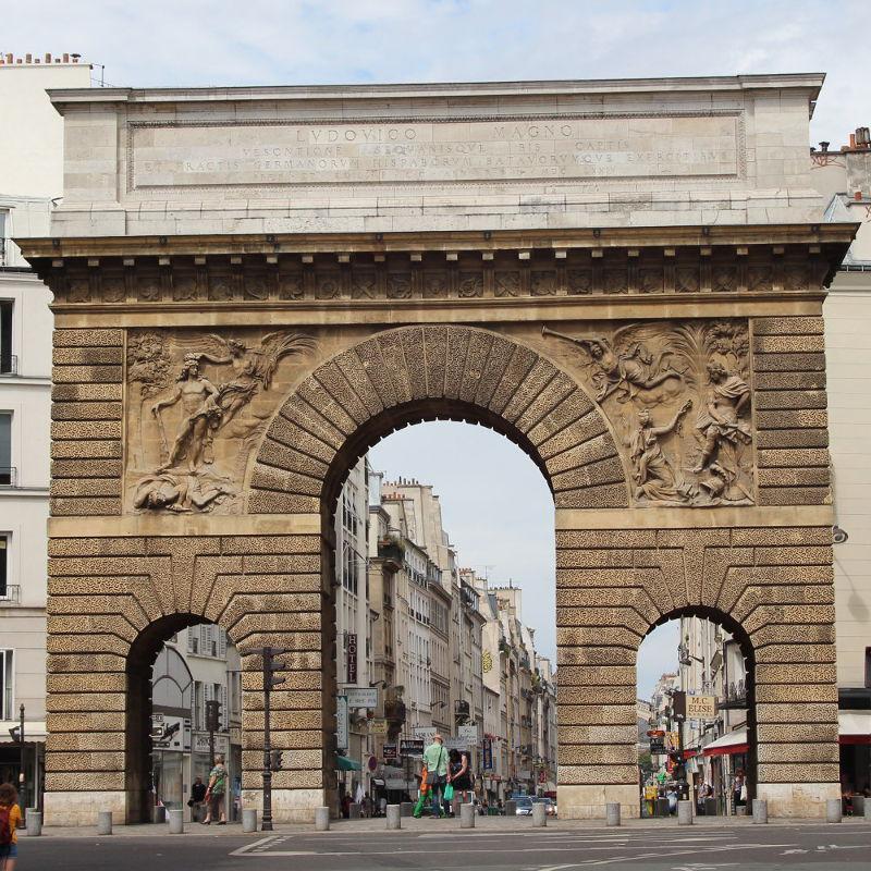 La porte saint martin histoires de paris for Porte saint martin
