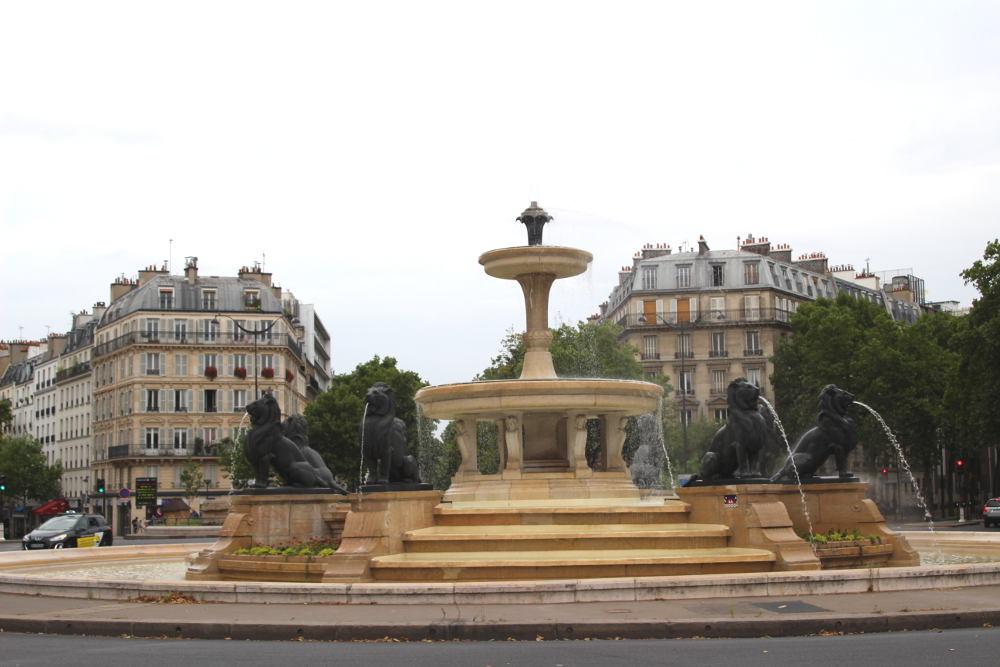 La fontaine aux lions de daumesnil histoires de paris for La fontaine aux cuisines