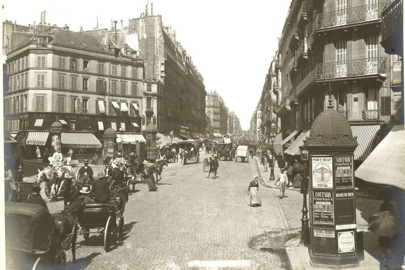 LA ZAD EN L'ÉTROIT TERRITOIRE - L'OUTRE-RÉEL IV.2 Rue-Lafayette-Promenades-dans-Paris-en-1889-photographie-de-L%C3%A9on-et-L%C3%A9vy